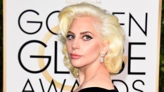 Lady Gaga arrives for the 73nd annual Golden Globe Awards, January 10, 2016, at the Beverly Hilton Hotel in Beverly Hills, California. AFP PHOTO / VALERIE MACON AFP PHOTO / VALERIE MACON / AFP / VALERIE MACON        (Photo credit should read VALERIE MACON/AFP/Getty Images)