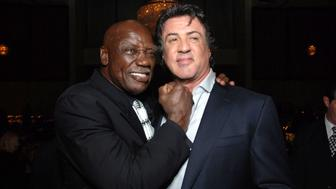 Tony Burton and Sylvester Stallone during 'Rocky Balboa' World Premiere - Arrivals at Grauman's Chinese Theatre in Hollywood, California, United States. (Photo by Alberto E. Rodriguez/WireImage)