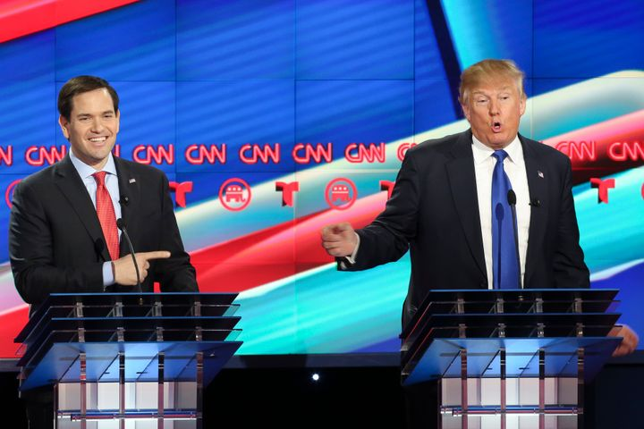 Sen. Marco Rubio (R-Fla.) and Donald Trump clashed in Thursday's debate in Houston. Whether Rubio's words were enough to