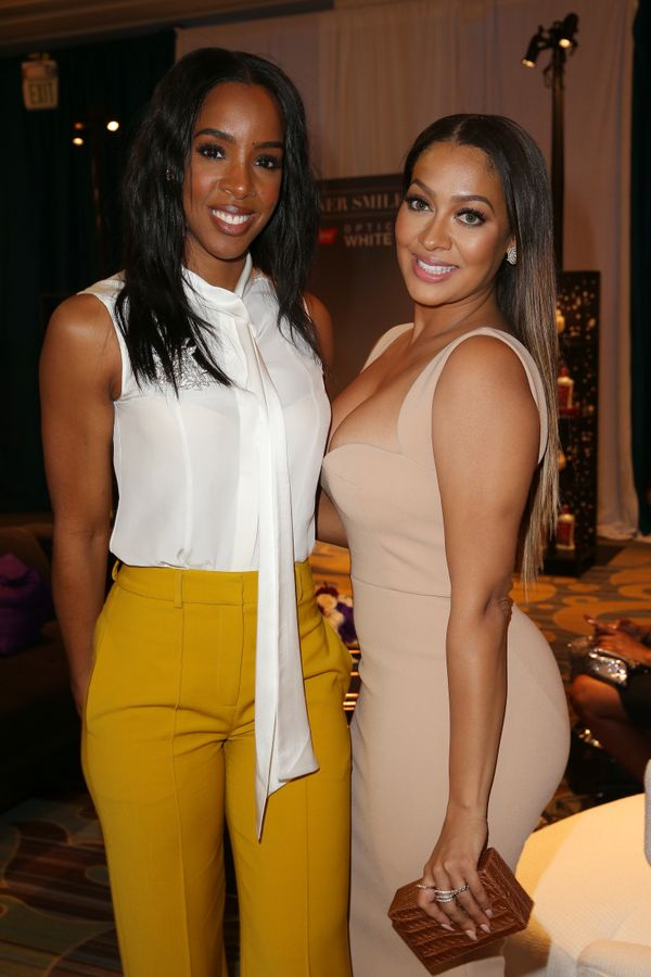 Singer Kelly Rowland (L) and host Lala Anthony.