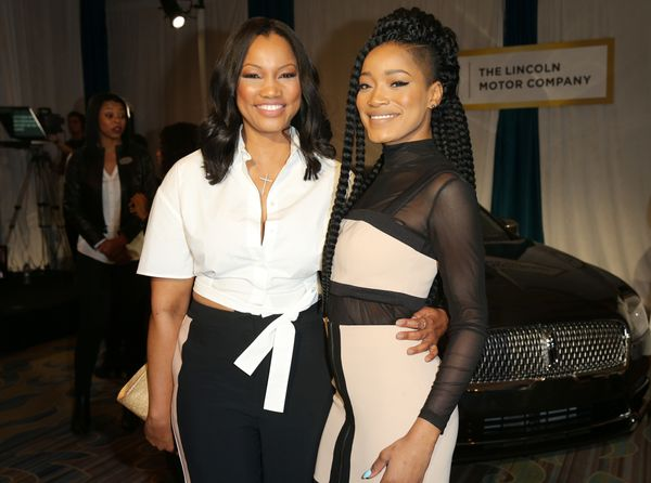 Actresses Garcelle Beauvais (L) and Keke Palmer.