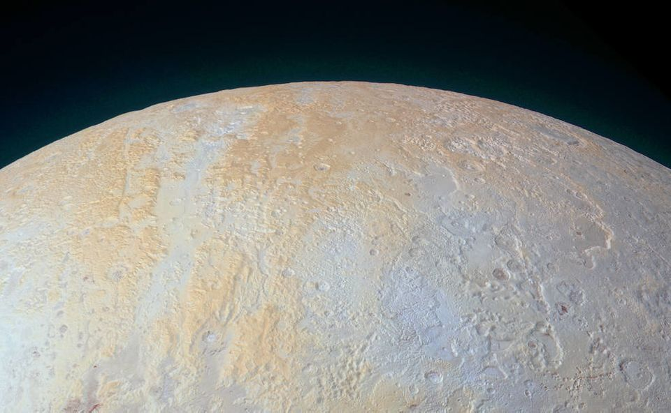 New NASA photo shows the canyons and pits of Pluto's northern pole