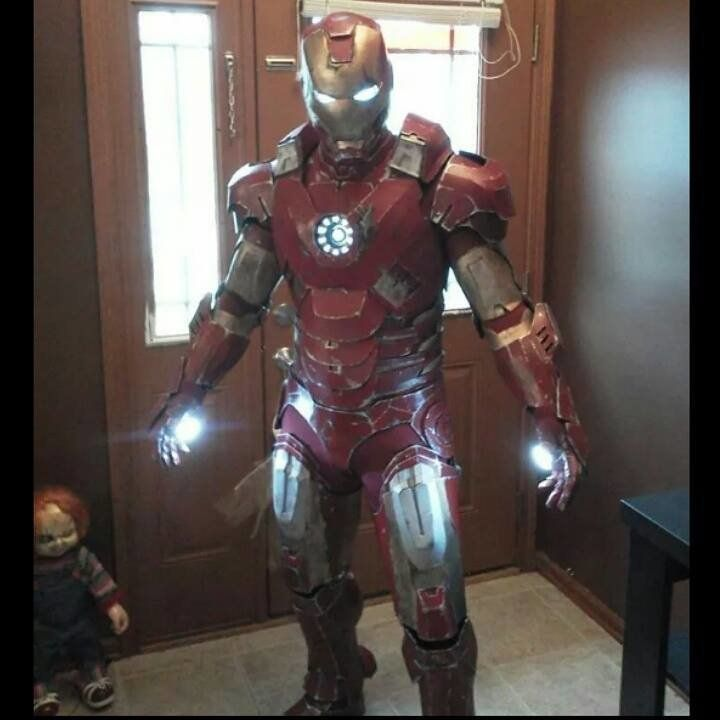 Brocku0026rsquo;s Ironman costume. & Coolest Dad Ever Makes Pink Stormtrooper Costume For Daughter | HuffPost