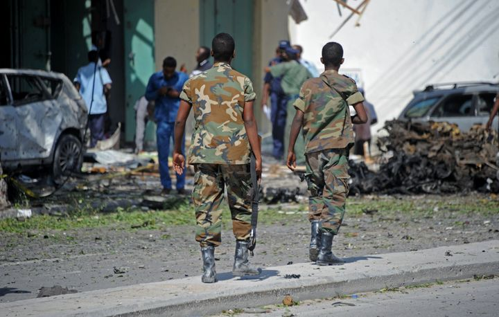 Somali Islamist group al Shabaab claimed responsbility for setting off a car bomb next to a hotel in Mogadishu and