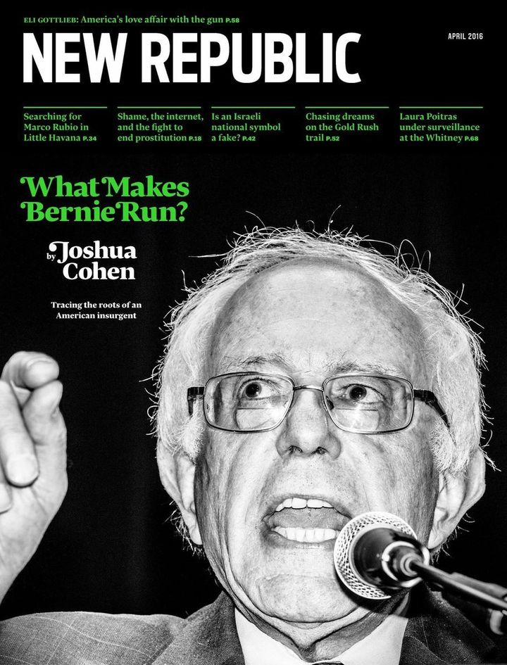 Bernie Sanders graces the cover of the last issue of the Chris Hughes era.