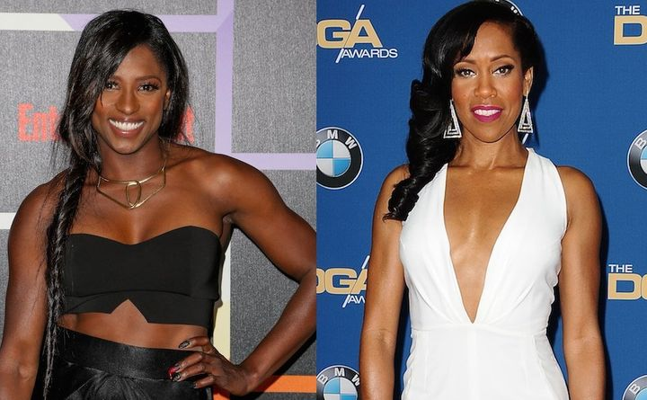 Rutina Wesley, left, was captioned as Regina King, right, at the Emmy Awards in 2010. The mistake only added to King's f