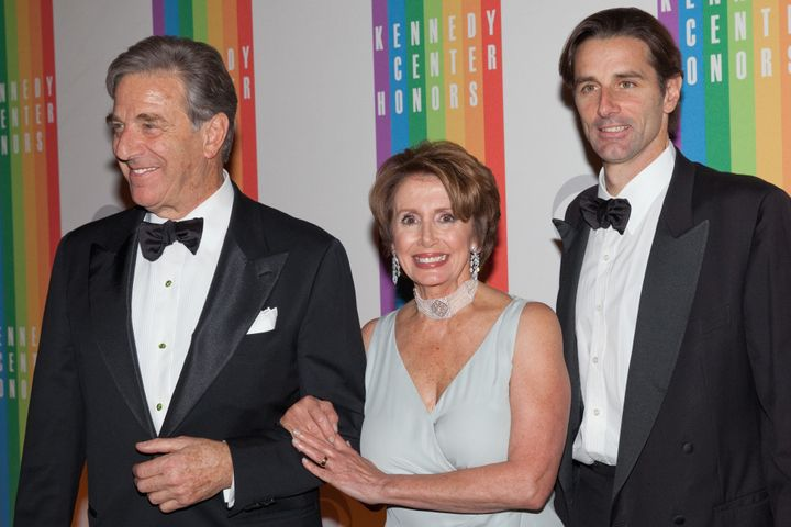 Paul Pelosi Jr., right, with his parents Paul Pelosi and Nancy Pelosi. Pelosi Jr. was recently named executive director of th