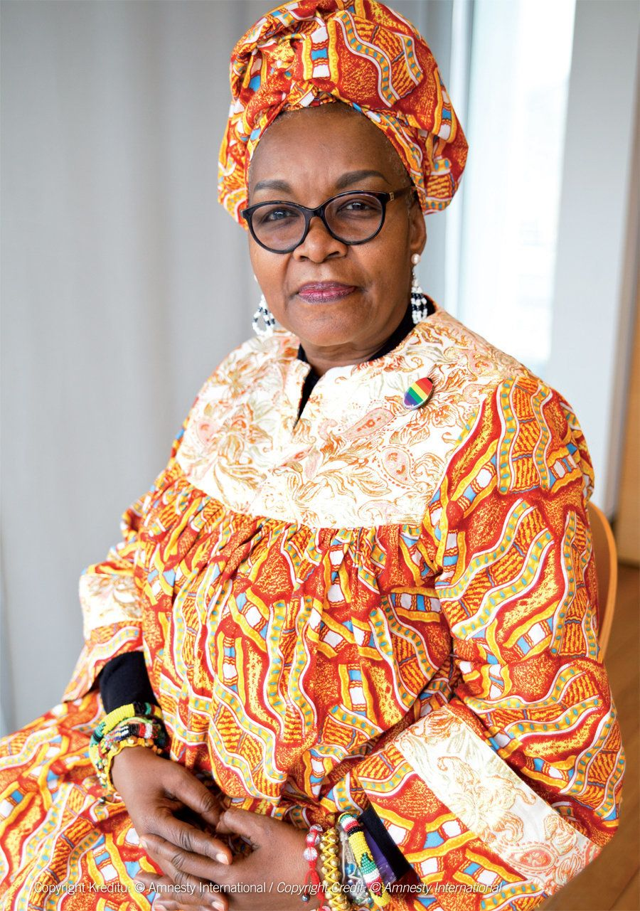 Alice Nkom, a tireless activist and defender of human rights for sexual minorities in Cameroon. She works as a lawyer, defend