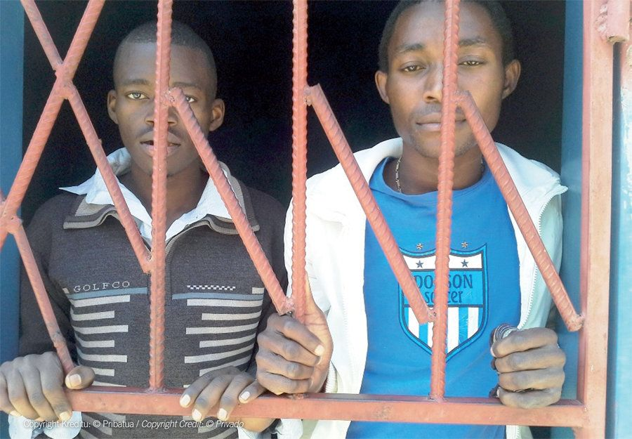 In accordance with Section 155 of the Zambian Penal Code, James Mwape (left) and Philip Mubiana (right), both 22, were arrest