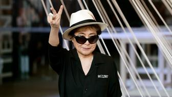 TO GO WITH AFP STORY BY LETICIA PINEDA Japanese musician and artist Yoko Ono, widow of John Lennon, poses for photographers during a photocall at the Memoria y Tolerancia museum in Mexico City, on February 2, 2016. Yoko Ono is in Mexico for diverse activities. AFP PHOTO/ALFREDO ESTRELLA / AFP / ALFREDO ESTRELLA        (Photo credit should read ALFREDO ESTRELLA/AFP/Getty Images)
