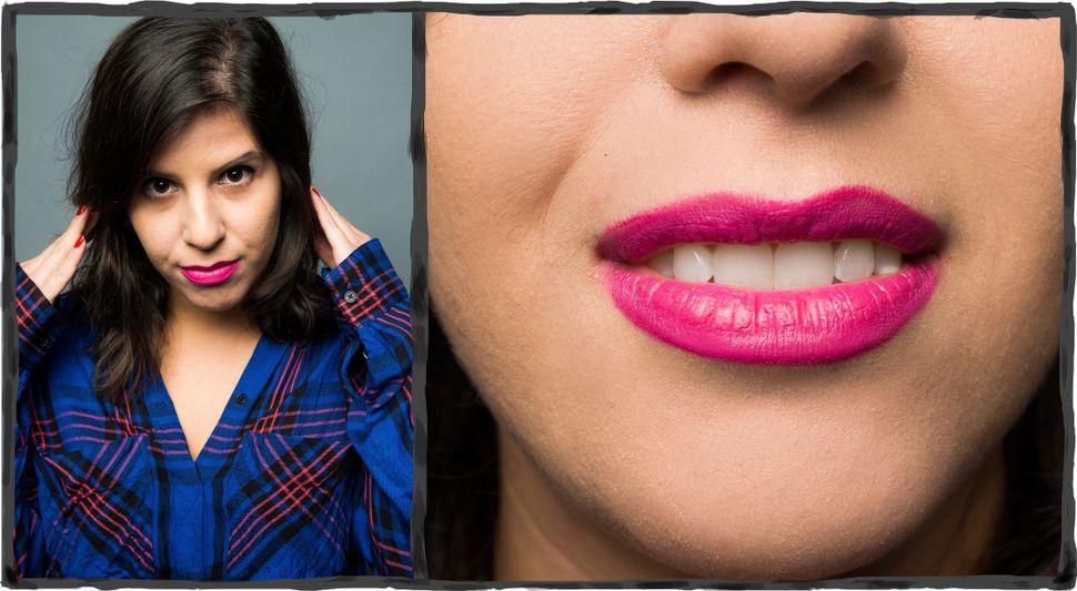 "Lipstick: <a href=""http://www.maccosmetics.com/product/13854/10179/Products/Makeup/Lips/Lipstick/Pro-Longwear-Lipcreme#/shade/Love_Forever%21"" target=""_blank"">MAC Cosmetics Pro Longwear Lipcreme in Love Forever</a>"
