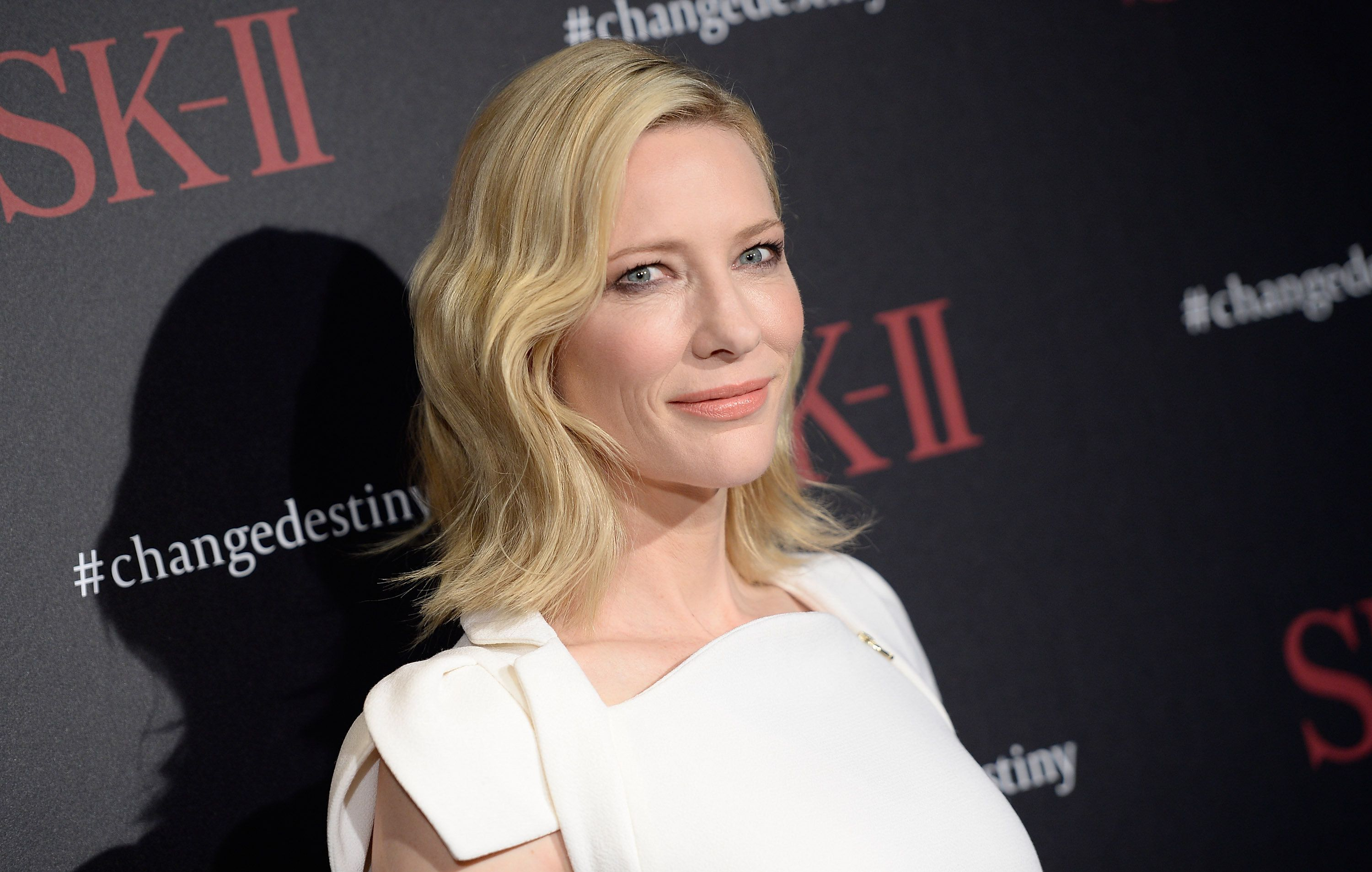 LOS ANGELES, CA - FEBRUARY 26:  Actress Cate Blanchett attends the SK-II #ChangeDestiny Forum at Andaz Hotel on February 26, 2016 in Los Angeles, California.  (Photo by Angela Weiss/Getty Images)