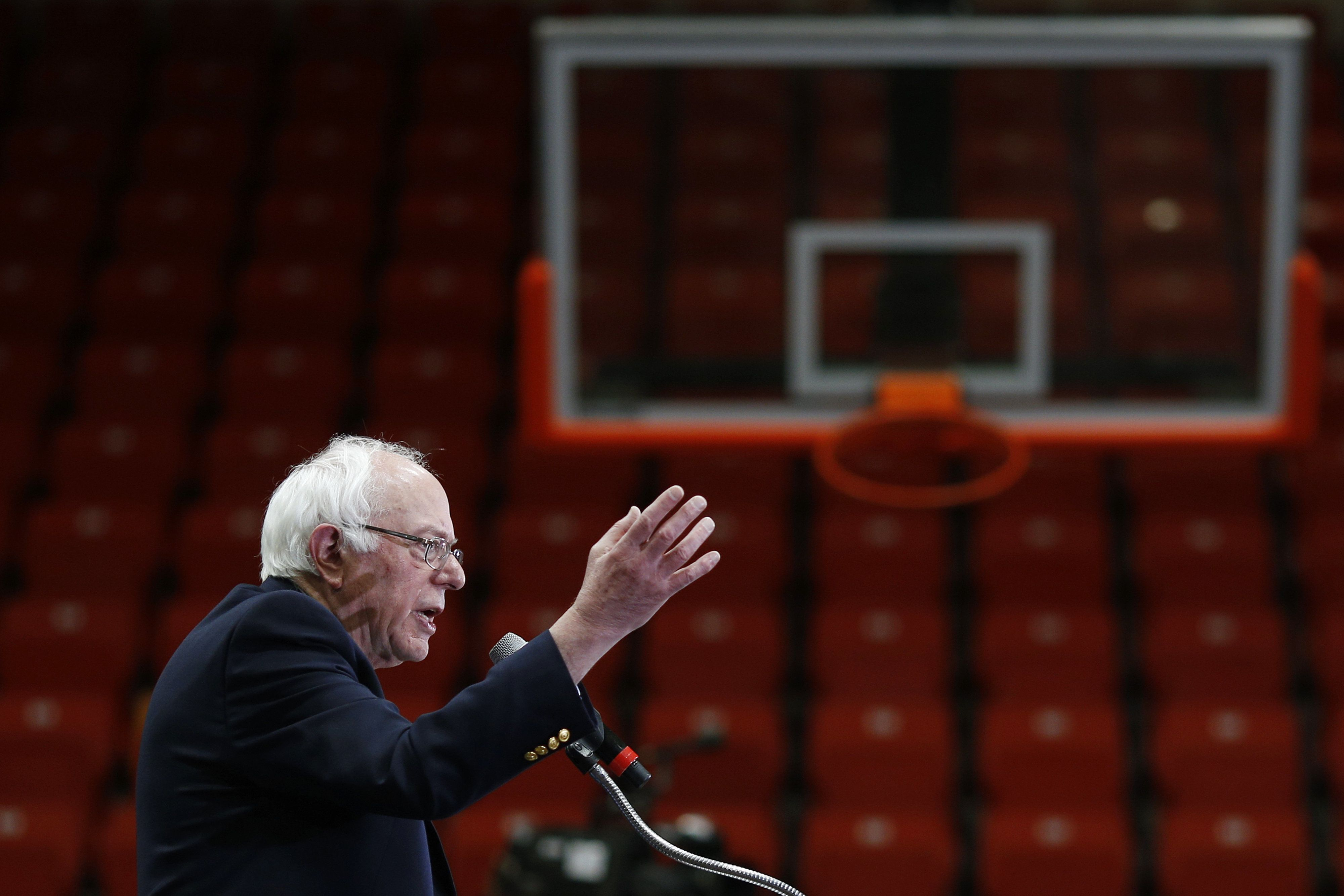 Senator Bernie Sanders, an independent from Vermont and 2016 Democratic presidential candidate, speaks during a campaign event at Claflin University in Orangeburg, South Carolina, U.S., on Friday, Feb. 26, 2016. Sanders has built a bigger operation in South Carolina than he has had in any other state thus far in the Democratic presidential primary as he tries to close in on front-runner Hillary Clinton in the last contest ahead of Super Tuesday. Photographer: Luke Sharrett/Bloomberg via Getty Images