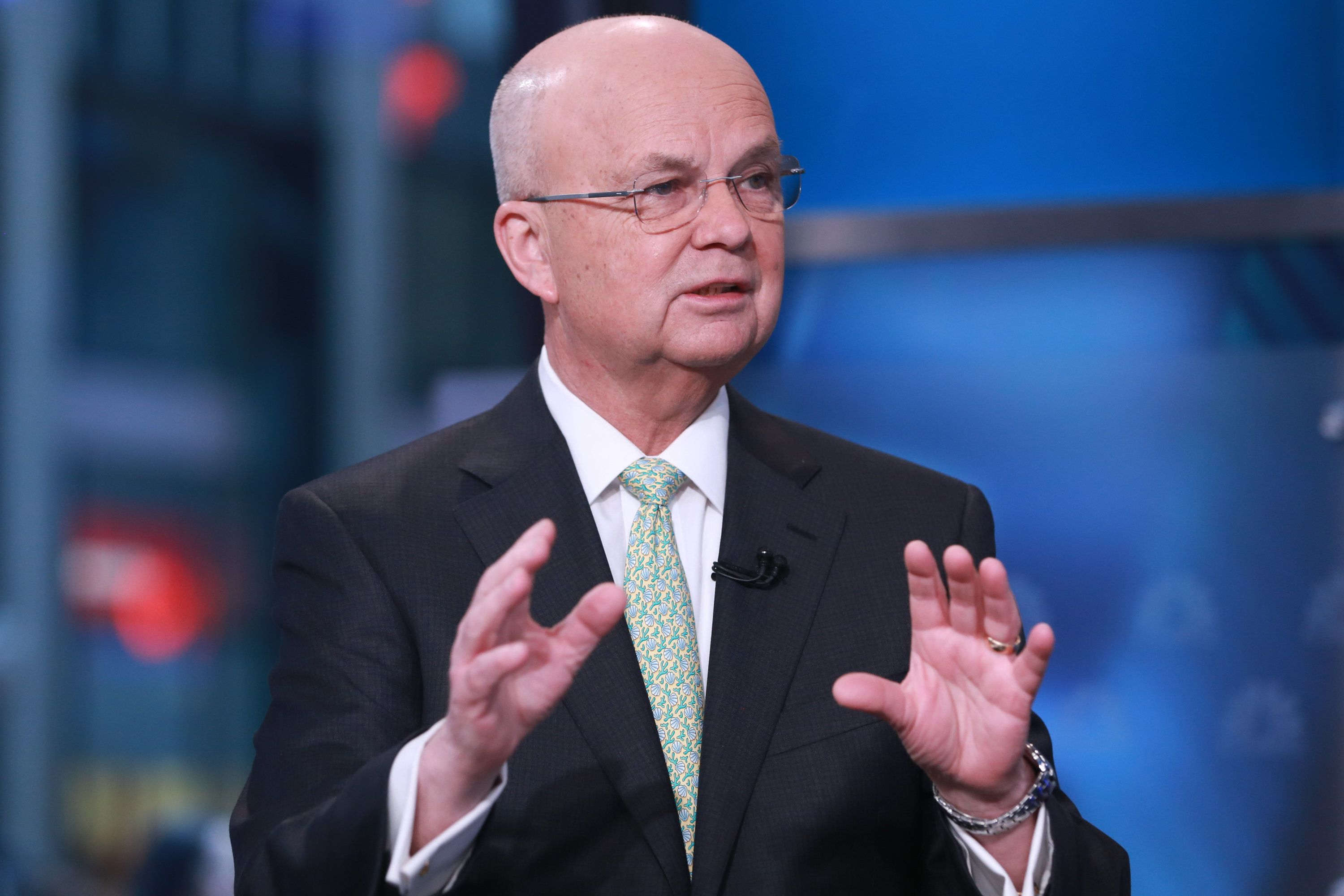 SQUAWK BOX -- Pictured: Michael Hayden, former CIA and NSA director, comments on the ongoing Apple vs. FBI dispute in an interview on February 23, 2016 -- (Photo by: David Orrell/CNBC/NBCU Photo Bank via Getty Images)
