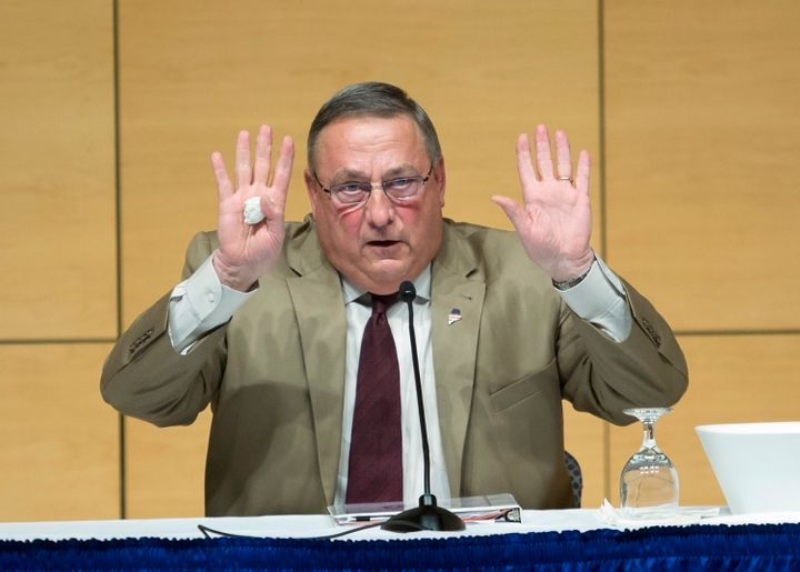 Maine Gov. Paul LePage quickly backed down in his opposition to Donald Trump.