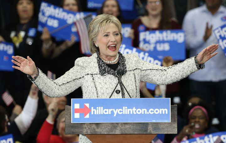 Polls show Hillary Clinton leading in three Super Tuesday states.