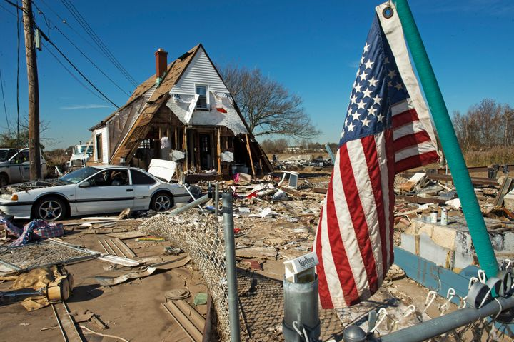 A house in Staten Island, New York, hit in Hurricane Sandy. Scientists say we should prepare for more weather events lik