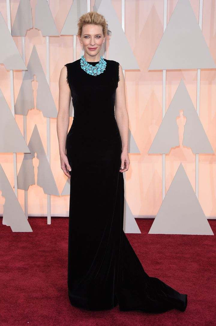 Cate Blanchett attends the 87th Annual Academy Awards.