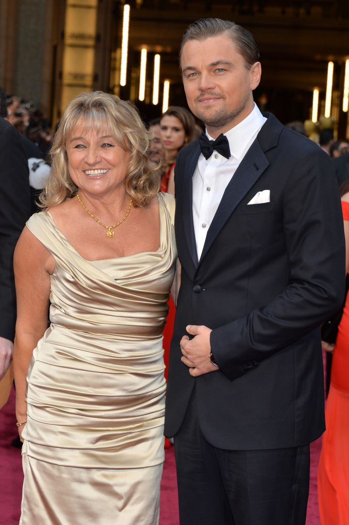 Leonardo DiCaprio (R) and Irmelin Indenbirken attends the Oscars held at Hollywood & Highland Center on March 2, 2014 in