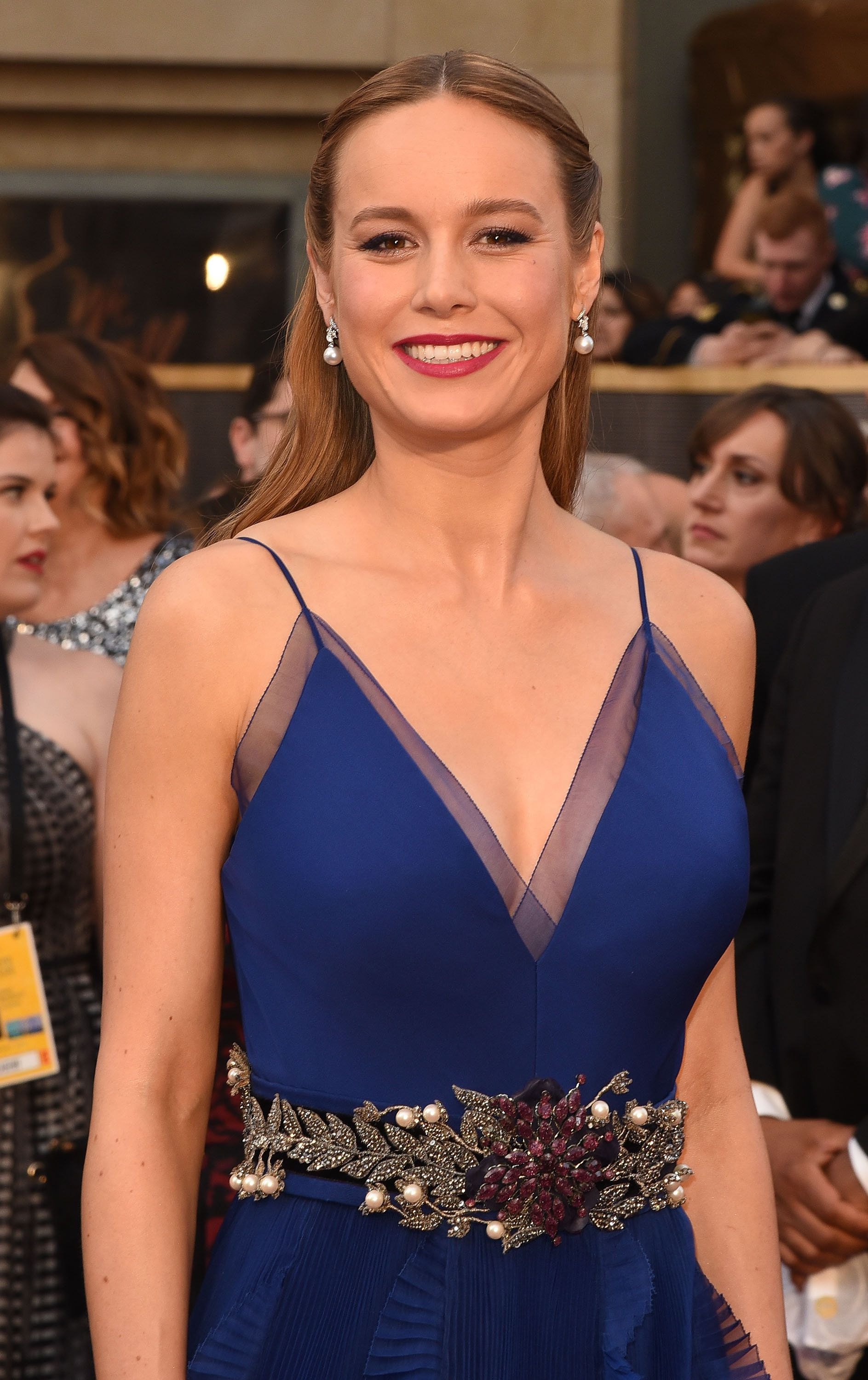 HOLLYWOOD, CA - FEBRUARY 28:  Actress Brie Larson attends the 88th Annual Academy Awards at Hollywood & Highland Center on February 28, 2016 in Hollywood, California.  (Photo by C Flanigan/FilmMagic)