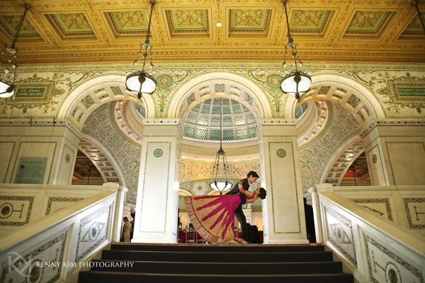 """Sheena Agarwal and Neel Mansukhani's wedding in Chicago. Wedding ceremony and reception took place at the Chicago Cultu"