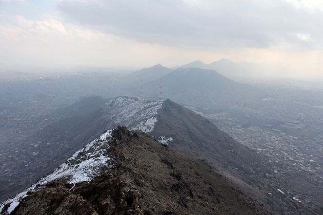 Snowy mountains outside Kabul where the Ascend team trains to prepare for the big trek: climbing Afghanistan's...