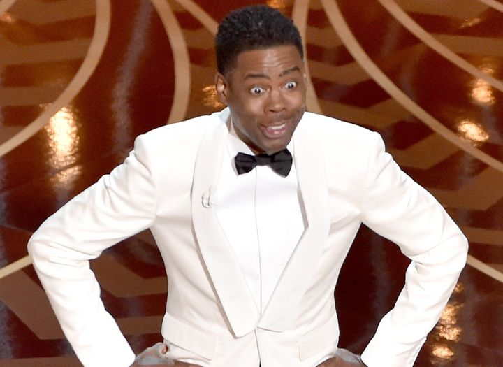 Host Chris Rock speaks onstage during the 88th Annual Academy Awards at the Dolby Theatre.