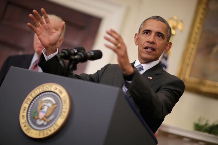 President Barack Obama makes a statement about his plan to close the detention camp at the Guantanamo Bay Naval Base and relo