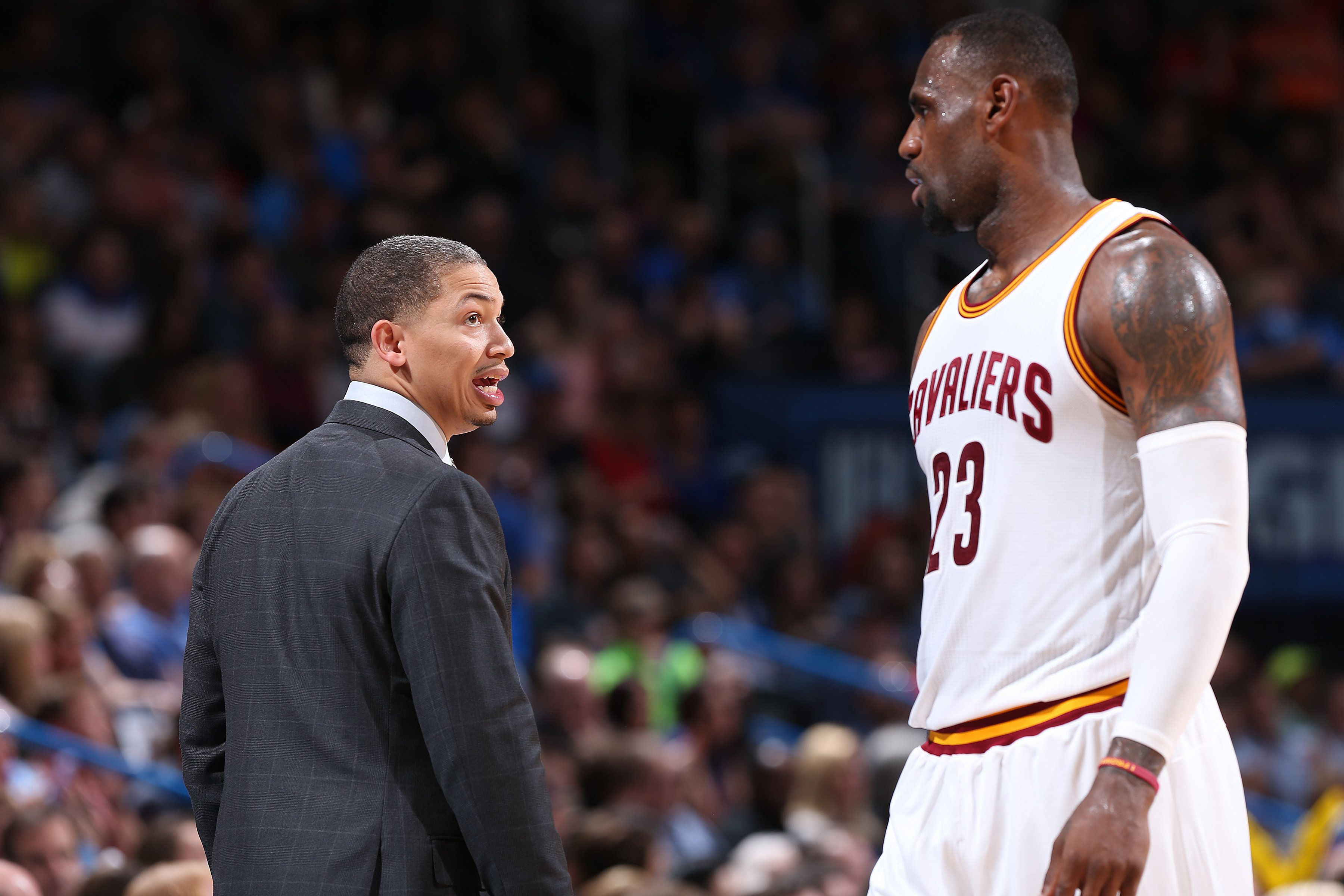 New Cleveland head coach Tyronn Lue and LeBron James have hardly been a perfect match thus far.