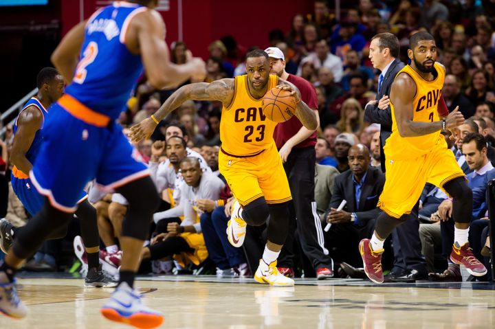 Jamesand Kyrie Irving both excel onthe open floor, but the Cavs offense has actually dropped in efficiency since