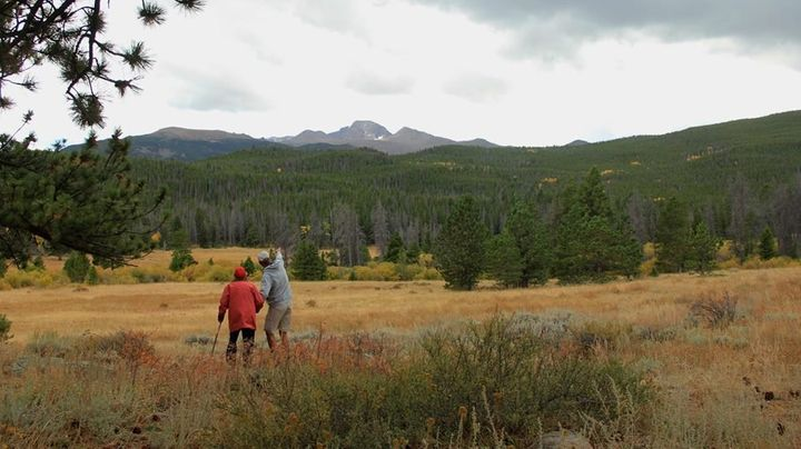 Norma and Tim at Rocky Mountain National Park.