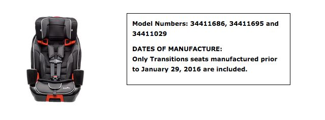 Evenflo Issues Recall For 56000 Car Seats