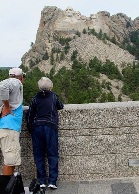 Norma and Tim at Mt. Rushmore.