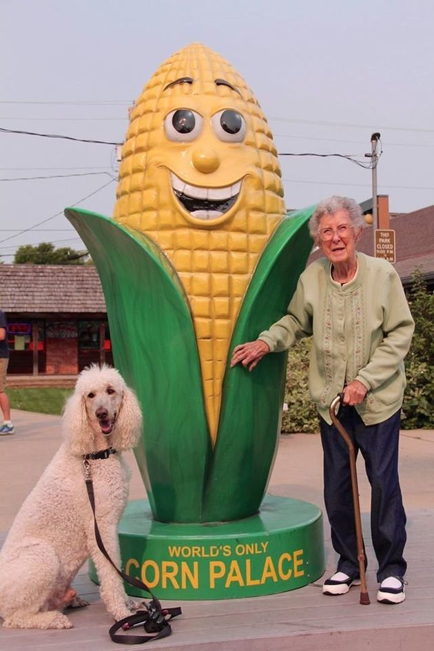 Norma visits the Corn Palace in South