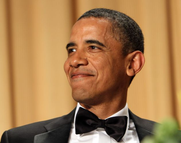 President Barack Obama mercilessly ridiculed Trump's birtherism at the White House Correspondents' Association...