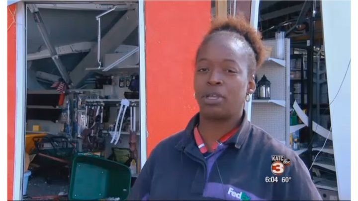 Kyra Johnson is counting her blessings are being narrowly swept away by a tornado Tuesday.