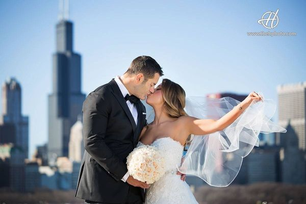 """My brother Kyle Rybak and my new sister Dr. Jeana Lucarelli were married at Hotel Allegro in downtown Chicago."" - <i>Dana Ry"