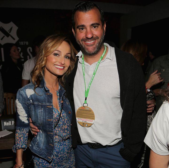 Giada De Laurentiis and Shane Farley attend theBurger Bash beach party held in Miami