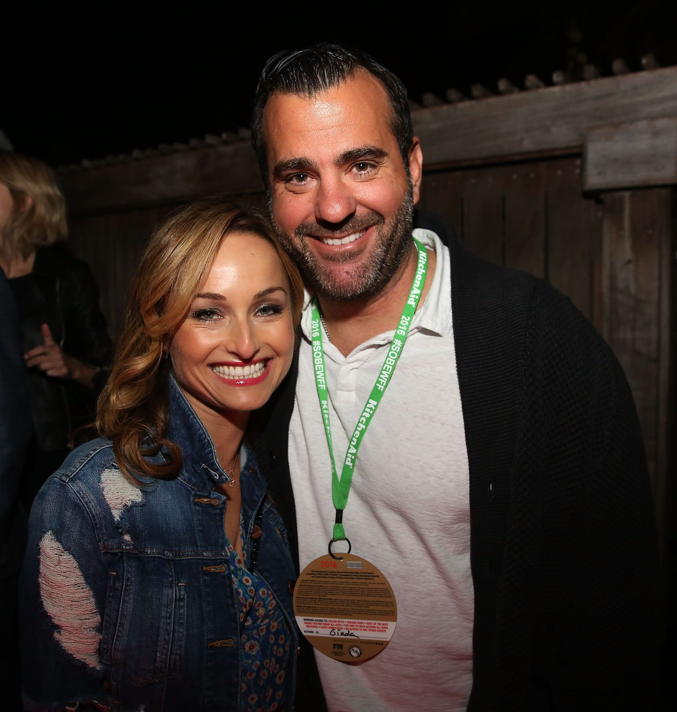 MIAMI BEACH, FL - FEBRUARY 26:  Giada De Laurentiis and Shane Farley attend Fireman Derek's Midnight Breakfast hosted by Chrissy Teigen during 2016 Food Network & Cooking Channel South Beach Wine & Food Festival Presented By FOOD & WINE at National Hotel on February 26, 2016 in Miami Beach, Florida.  (Photo by Aaron Davidson/Getty Images For SOBEWFF)