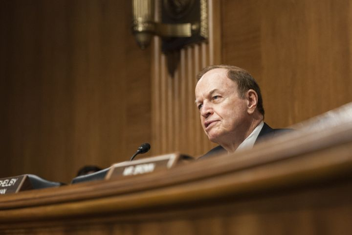 Sen. Richard Shelby (R-Ala.) is benefiting from nearly $1 million in undisclosed spending ahead of the March 1
