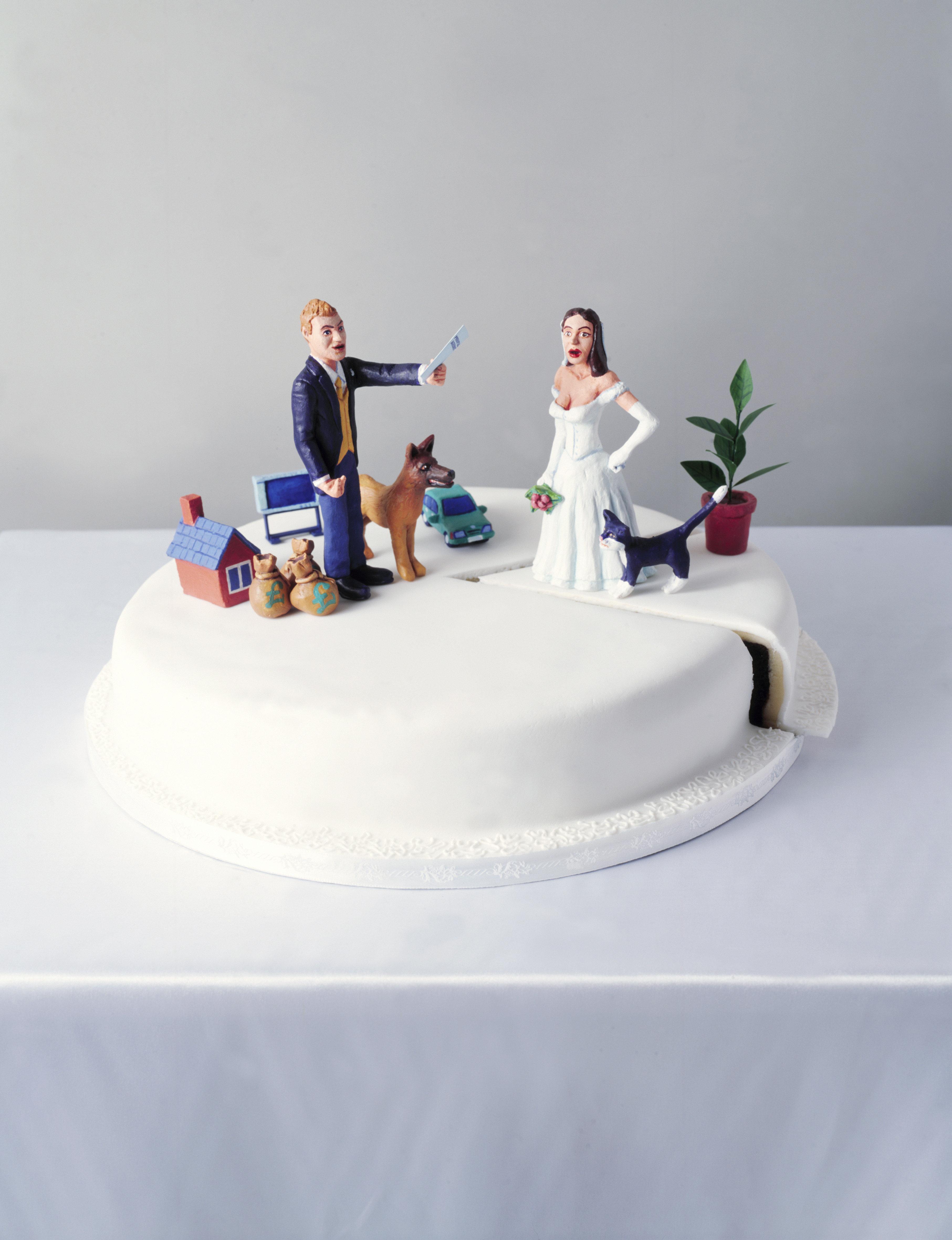 Figures on Wedding Cake