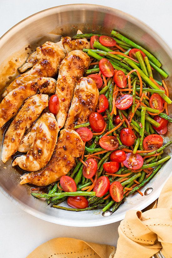 Skillet Chicken with Orange-Rosemary Sauce