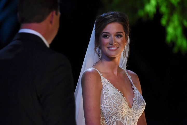 "Jade on her (nationally-televised) wedding day, just before she tied the knot with fellow ""Bachelor"" alum Tanner Tolbert.&nbs"