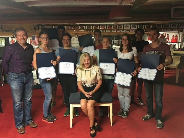 German interns with Fellowship Awards from Congressperson