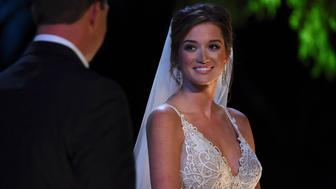 THE BACHELOR AT 20: A CELEBRATION OF LOVE - Romance is definitely in the air as we take a look back at 20 seasons of 'The Bachelor' and the fantasy of love - as well as the rollercoaster ride of falling in love. Viewers will catch up with some of their favorite Bachelors and Bachelor couples of all time and discover how these love stories have continued long after their final rose ceremonies. Then, Bachelor Nation is invited to another wedding, as Jade Roper and Tanner Tolbert, the newest sweethearts, tie the knot, when Chris Harrison hosts the two-hour special, 'The Bachelor At 20: A Celebration of Love,' airing SUNDAY, FEBRUARY 14, 8:00-10:00 p.m., ET), on the ABC Television Network. (Photo by Matt Petit/ABC via Getty Images) JADE ROPER