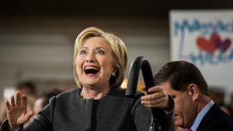 BOSTON, MA - Former Secretary of State Hillary Clinton speaks to supporters at the Old South Meeting Hall during a rally in Boston, Massachusetts on Monday February 29, 2016. (Photo by Melina Mara/The Washington Post via Getty Images)
