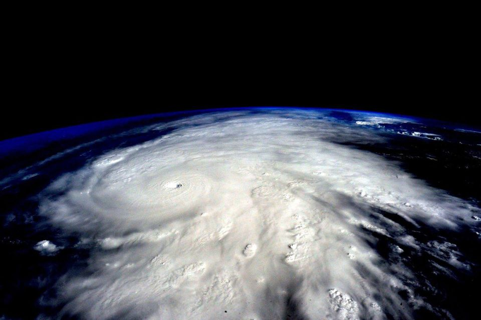 Hurricane Patricia, as seen from the International Space Station and captured by astronaut Scott Kelly. It made landfall