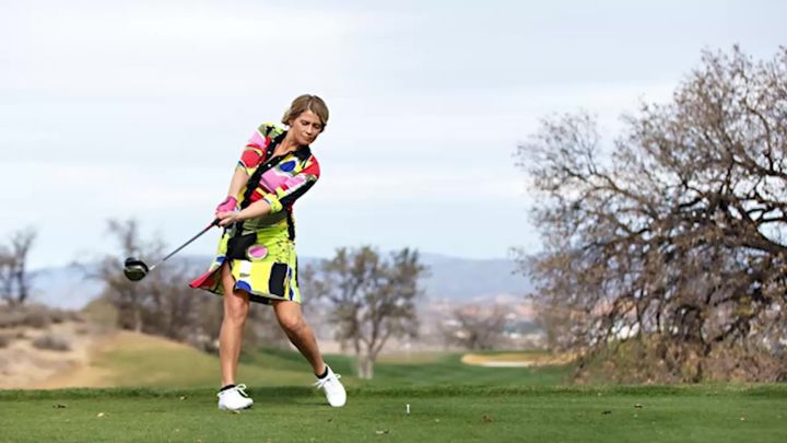 Swanson's latest venture is a collection of women's golf wear, called aDRESSitGOLF.