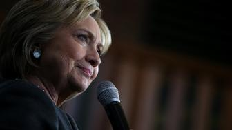 SPRINGFIELD, MA - FEBRUARY 29:  Democratic presidential candidate former Secretary of State Hillary Clinton speaks during a 'Get Out The Vote' rally at the Lyman & Merrie Wood Museum of Springfield History on February 29, 2016 in Springfield, Massachusetts. Hillary Clinton is campaigning in Massachusetts and Virginia ahead of Super Tuesday.  (Photo by Justin Sullivan/Getty Images)