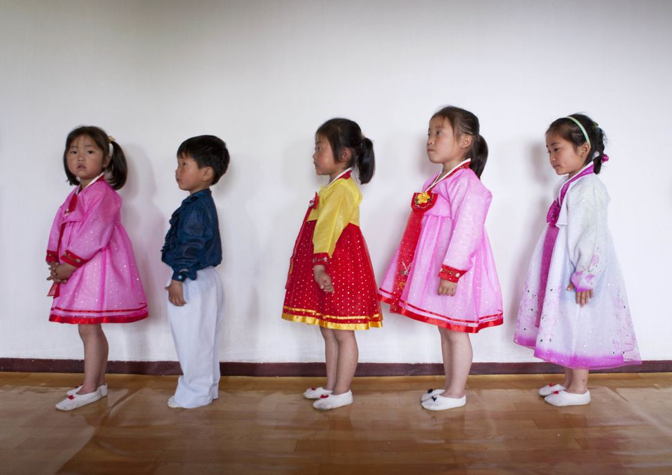 Primary School students in North Korea on May 16, 2009.